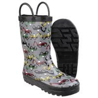 Cotswold Puddle Childrens Wellingtons Digger